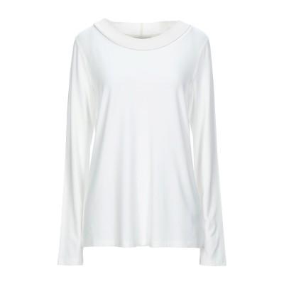 LE TRICOT PERUGIA T シャツ ホワイト XL レーヨン 96% / ポリウレタン 4% / バージンウール / シルク / カシミ