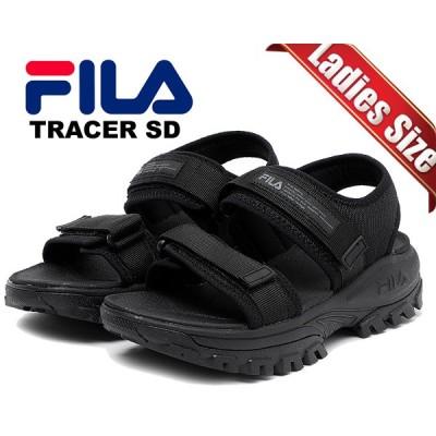 フィラ トレーサーサンダル FILA TRACER SD black/black/black 1sm00734-001 ブラック レディース ベルトストラップ 厚底 SANDAL