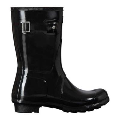 ハンター Hunter レディース レインシューズ・長靴 シューズ・靴 Original Short Gloss Rain Boot Black