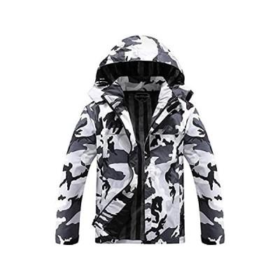OTU Men's Lightweight Waterproof Hooded Rain Jacket Outdoor Raincoat Shell