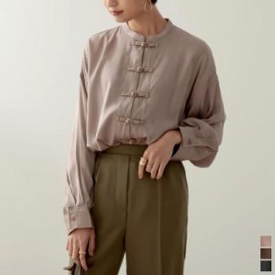 チャイナボタンオーバーサイズシャツ