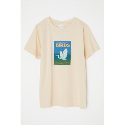 【マウジー】 BIRDS Tシャツ レディース L/YEL1 FREE MOUSSY