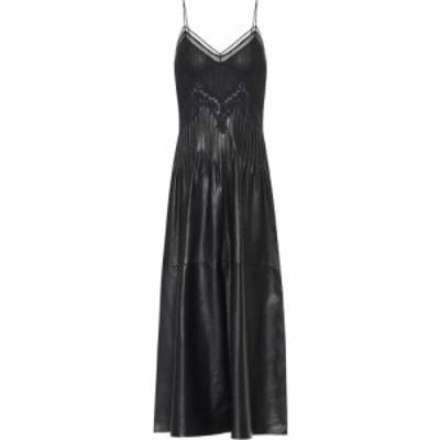 ガブリエラ ハースト Gabriela Hearst レディース ワンピース ミドル丈 ワンピース・ドレス althea leather midi dress Black