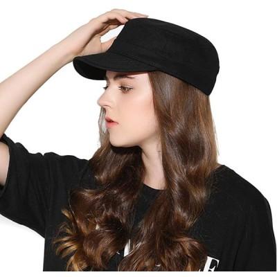メンズ レディース ワークキャップ コットン100% 綿 無地 uvカット紫外線対策 調節可能 作業帽子 通気性 アウトドアハット 男女兼用 (フラ