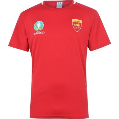 UEFA メンズ Tシャツ トップス Spain Poly T Shirt Red