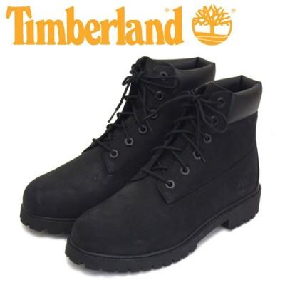 Timberland (ティンバーランド) 12907 6in Premium WP Boot 6インチ プレミアム ウォータープルーフ ブーツ レディース キッズ Black Nubuck TB186