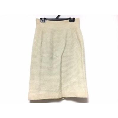 ハロッズ HARRODS スカート サイズ2 M レディース ベージュ×アイボリー ツイード/ラメ【中古】20200716