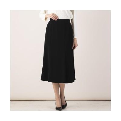 【ミゼール】 縦二重織りスカート レディース ブラック 19 MISSEL