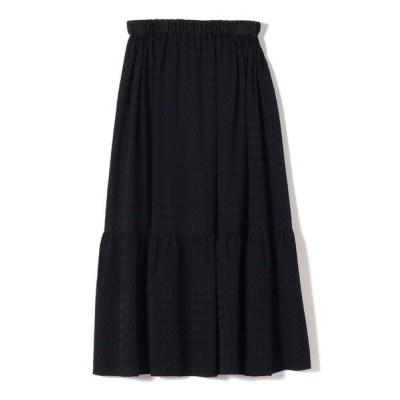 SHIPS for women/シップスウィメン PrimaryNavyLabel:ジャガードギャザースカート ネイビー 36
