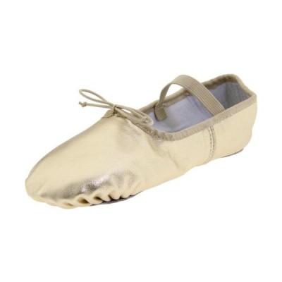 Dance Class Women's B902 Full Sole Metallic Ballet Slipper,Gold,11 M US