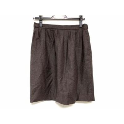 ジルサンダー JILSANDER スカート サイズ34 XS レディース - ダークグレー ひざ丈【還元祭対象】【中古】20200901