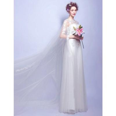 TS2558 ウエディングドレス スレンダータイプ ロングトレーン