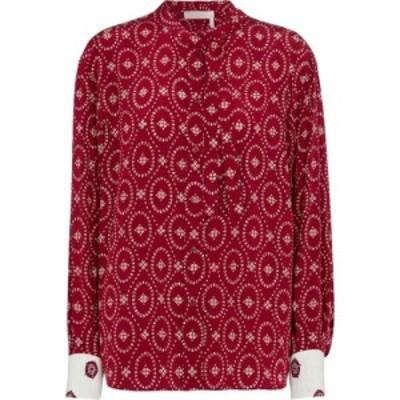 クロエ Chloe レディース ブラウス・シャツ トップス Printed silk crepe de chine shirt Copper Red