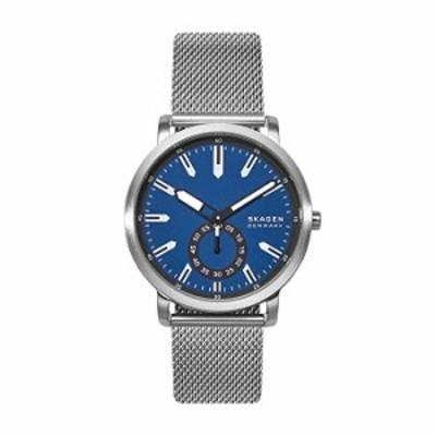Skagen メンズ コールデン ステンレススチール メッシュクォーツ腕時計 One Size シルバー