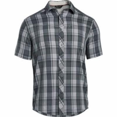 アンダーアーマー その他トップス Under Armour Hitch Woven Short Sleeve Shirt Overcast Gray