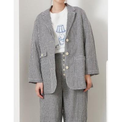 【プードゥドゥ】 コットンブレンドテーラードジャケット レディース ブラック M POU DOU DOU