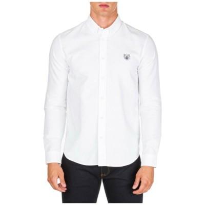 メンズファッション ケンゾー KENZO MEN'S LONG SLEEVE SHIRT DRESS SHIRT NEW WHITE AEE