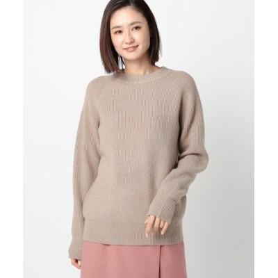 【ミューズ リファインド クローズ】 ウォッシャブルラメアゼニット レディース ベージュ M MEW'S REFINED CLOTHES