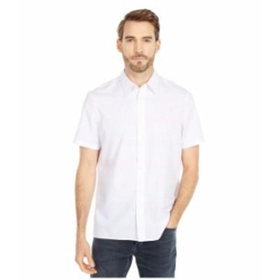 カルバンクライン メンズ シャツ トップス Short Sleeve Stretch Cotton Button-Down Shirt Strawberry Ash