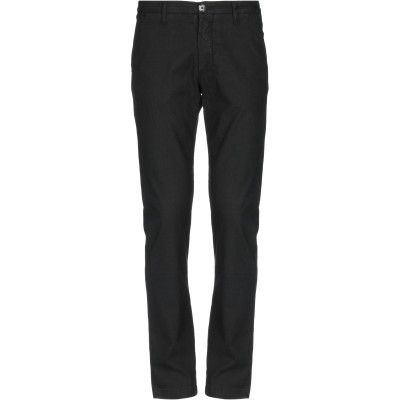 LIU •JO MAN パンツ ブラック 44 リネン 50% / コットン 48% / ポリウレタン 2% パンツ