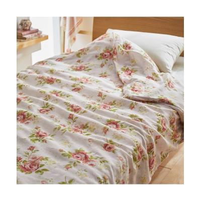 やさしい肌ざわりのバラ柄綿100%ガーゼ毛布カバー 毛布・ブランケット, Beddings, 寝具(ニッセン、nissen)
