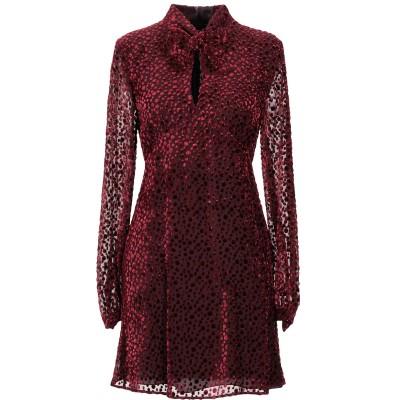 SAINT LAURENT ミニワンピース&ドレス ボルドー 36 レーヨン 60% / シルク 40% ミニワンピース&ドレス