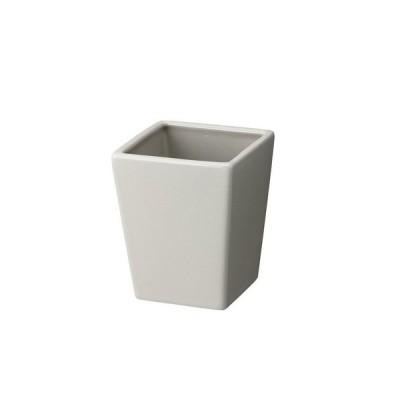 ベーシック角M MC−1422 グレー 155-1422-15 4個 花器 花瓶 陶器花器