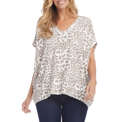 カレンケーン カットソー トップス レディース Leopard Print Short Sleeve Top Leopard