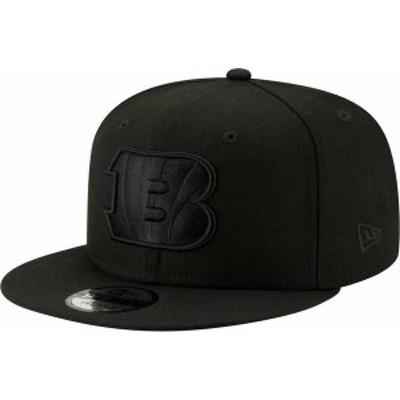 ニューエラ メンズ 帽子 アクセサリー New Era Men's Cincinnati Bengals Black on Black Basic 59Fifty Fitted Hat