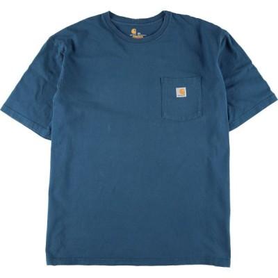 ビッグサイズ カーハート Carhartt ワンポイントロゴポケットTシャツ メンズ4L /eaa074733