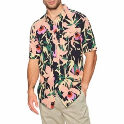 ルーカ RVCA メンズ 半袖シャツ トップス bamboo floral short sleeve shirt Navy Marine