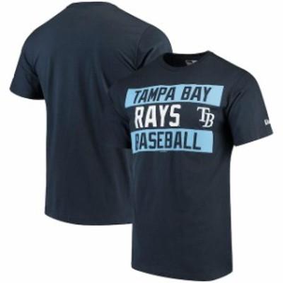 New Era ニュー エラ スポーツ用品  New Era Tampa Bay Rays Navy Bars Jersey T-Shirt