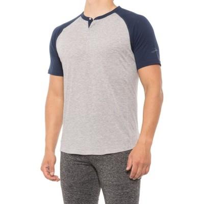 ブルックス Brooks メンズ Tシャツ ヘンリーシャツ トップス Cadence Henley T-Shirt - Short Sleeve Heather Ash/Navy