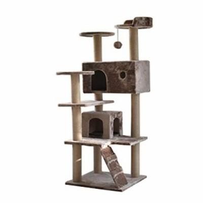 XINGZHE 猫の木およびタワー、4層タワーのコンドミニアムの家の家具の傷の (新古未使用品)
