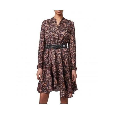 AllSaints レディース 女性用 ファッション ドレス Martina Ambient Dress - Brown