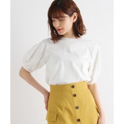 tシャツ Tシャツ 【S-LL】ギザコットン パフスリーブプルオーバー