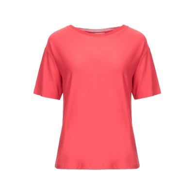 STEFANEL T シャツ レッド M レーヨン 95% / ポリウレタン 5% T シャツ