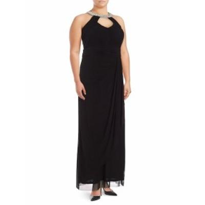 マリーナ レディース ワンピース Solid Necklace-Collar Dress