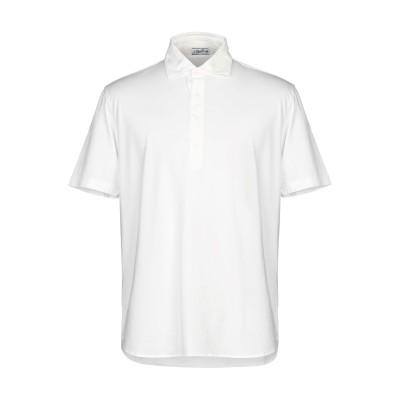S. MORITZ ポロシャツ ホワイト 52 コットン 100% ポロシャツ