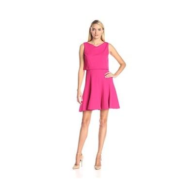 テイラー ドレス レディース テクスチャー ニット Popover ドレス, ラズベリー, 10(海外取寄せ品)