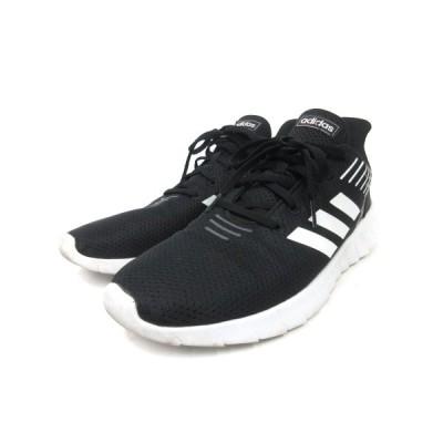 【中古】アディダス adidas スニーカー ランニングシューズ ASWEERUN F36331 28cm 黒 ブラック 靴 メンズ 【ベクトル 古着】