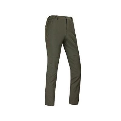 (フロラン)Froyland メンズ アウトドア ハイキング 登山パンツ トレッキングパンツ 厚手 秋冬用 防風 防寒 裏フリース アーミー