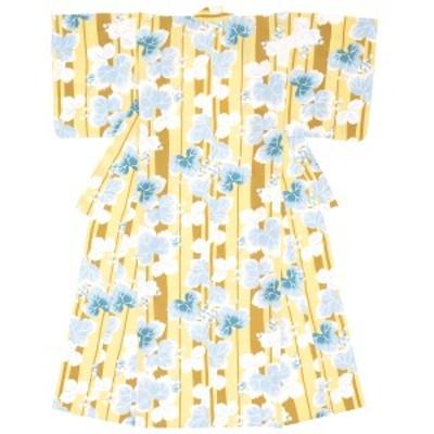 浴衣 レディース レトロ 黄色 イエロー 水色 葡萄 ブドウ 縞 ストライプ 綿 花火大会 女性用 仕立て上がり