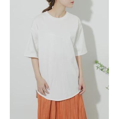 SENSE OF PLACE by URBAN RESEARCH/センスオブプレイス バイ アーバンリサーチ 【WEB/一部店舗限定】オーガニックコットンオーバーTシャツ OFF WHITE one