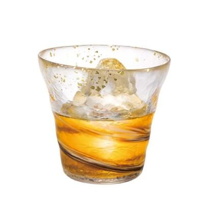 津軽 ビードロ 酒器 焼酎グラス おしゃれ |津軽びいどろ 氷華 金彩ロックグラス 霧 ( 日本酒 焼酎グラス ) F-71470