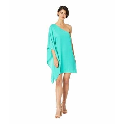 カップケーキアンドカシミア ワンピース トップス レディース Deliz Crepe One Shoulder Cape Sleeve Dress Leaf Green