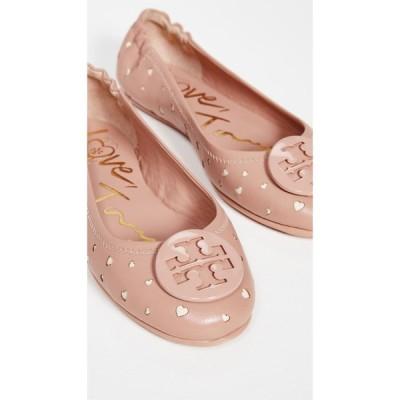 トリー バーチ Tory Burch レディース スリッポン・フラット シューズ・靴 Minnie Travel Ballet Flats Pink Moon/New Cream