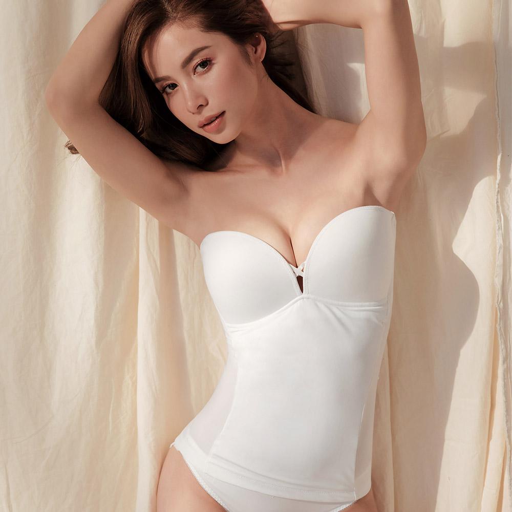 S曲羨-平口馬甲塑身衣 (S-EL) 白