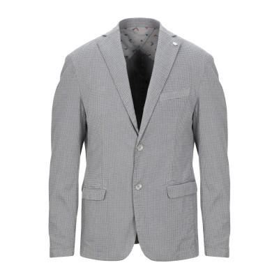 BARBATI テーラードジャケット ライトグレー 44 コットン 78% / ポリエステル 20% / ポリウレタン 2% テーラードジャケット