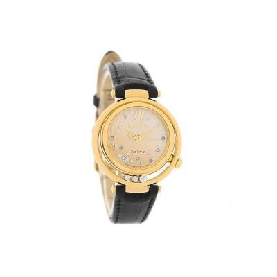 腕時計 シチズン Citizen エコドライブ レディース Sunrise MOP Floating ダイヤモンド レザー 腕時計 EM0322-02Y